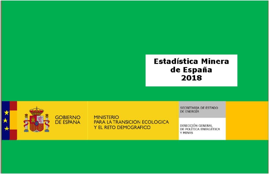 Estadística minera 2018