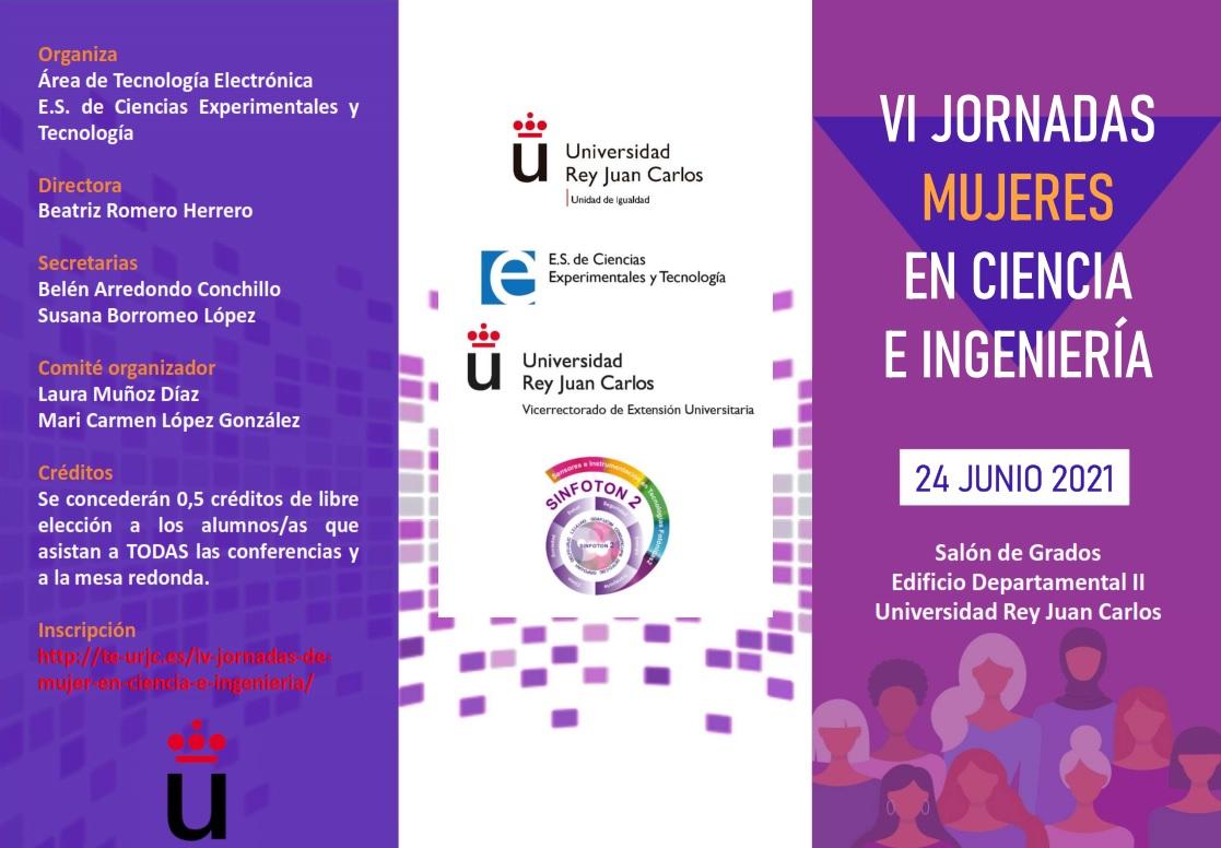 VI Jornadas Mujeres en Ciencia e Ingeniería Universidad Rey Juan Carlos