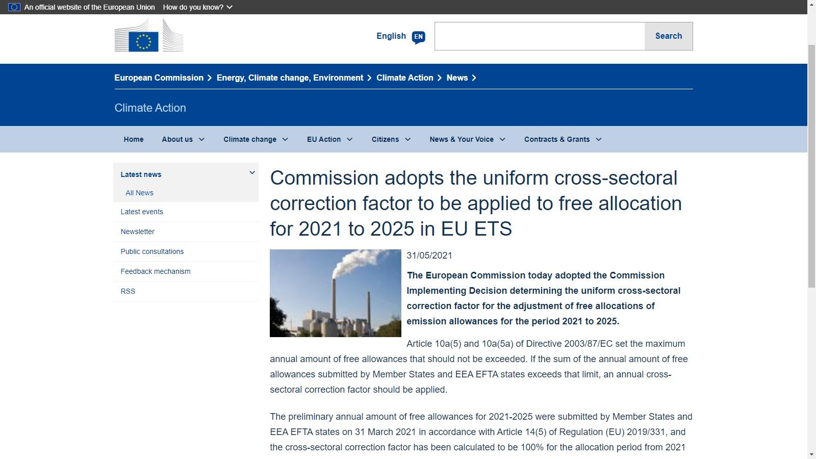 FACTOR DE CORRECCIÓN INTERSECTORIAL 2021-2025